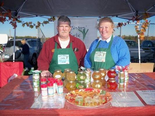 Davide and Naomi Scanlon offered their line of garlic jellies at the sixth annual Garlic Festival in Bethlehem on Sunday.