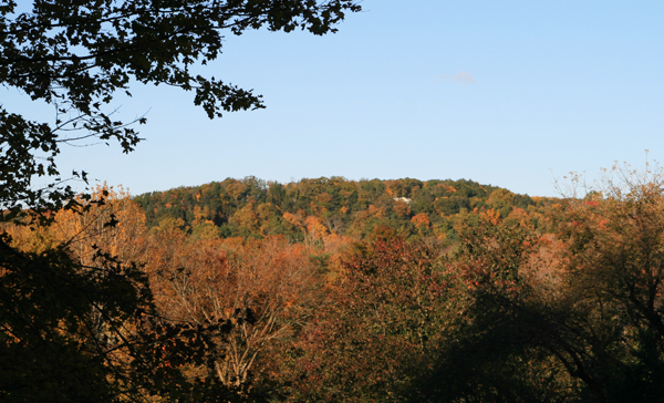 Pretty soon, we'll see the leaves changing color too. This photo is from Fall 2012.